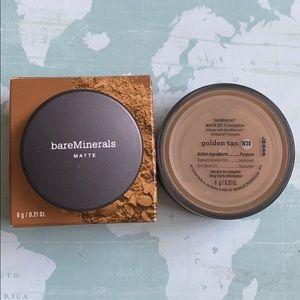 Bareminerals matte foundation golden tan spf15